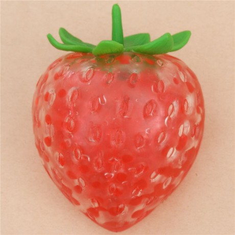 Squishy Jelly : Preorder - red strawberry squishy with jelly pearl filling - Cute Squishy Shop