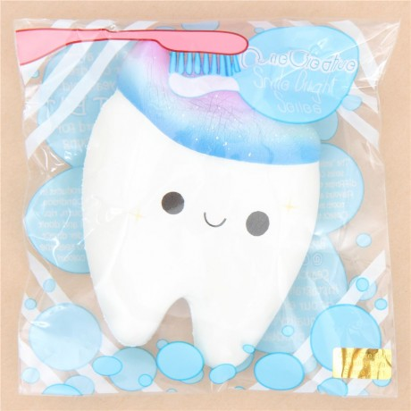 Squishy Galaxy Tooth : Faulty - white tooth with galaxy toothpaste squishy by Cutie Creative - Cute Squishy Shop