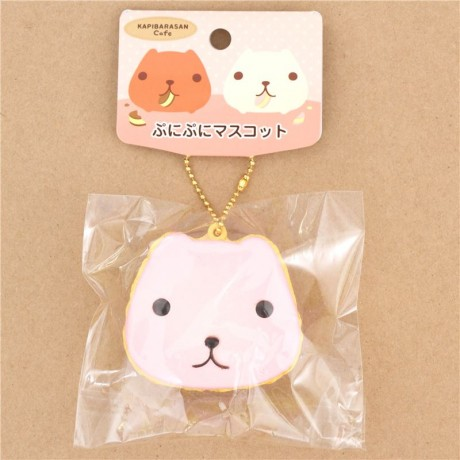 Kapibarasan pink yellow cookie sandwich squishy charm - Cute Squishy Shop