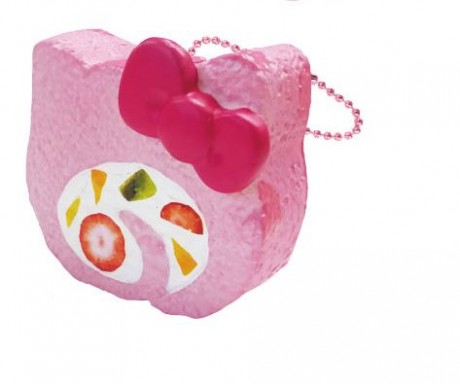 Hello Kitty Squishy Cake Rolls : Preorder - pink Hello Kitty roll cake with sprinkles squishy - Cute Squishy Shop