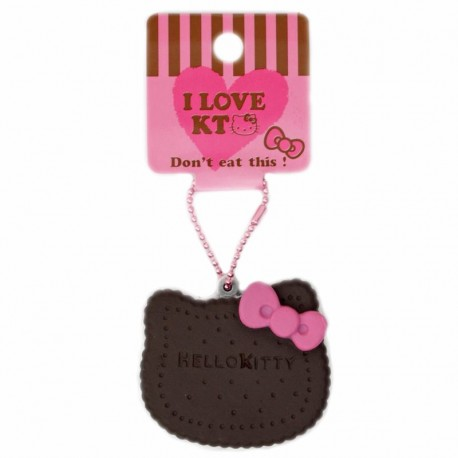 Squishy Chocolate Kitty : cute Hello Kitty chocolate biscuit bow squishy charm cellphone charm - Cute Squishy Shop
