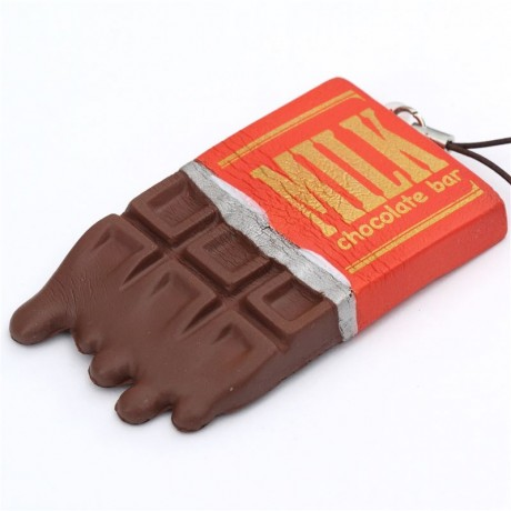 cute brown chocolate bar with wrapper design cracking squishy