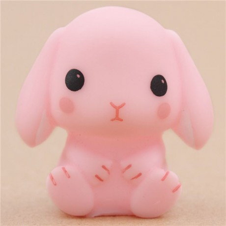 Squishy Squooshems Bunny : cute pink rabbit squeeze squeak toy from Japan Amuse - Cute Squishy Shop