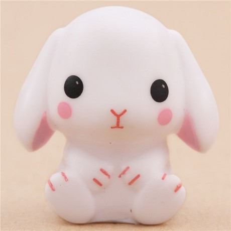 Squishy Squooshems Bunny : cute white rabbit squeeze squeak toy from Japan Amuse - Cute Squishy Shop