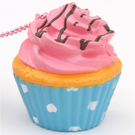 pink icing cupcake squishy charm cellphone charm kawaii Sammy the Patissier