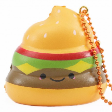scented Crazy Poo hamburger squishy by Puni Maru ...