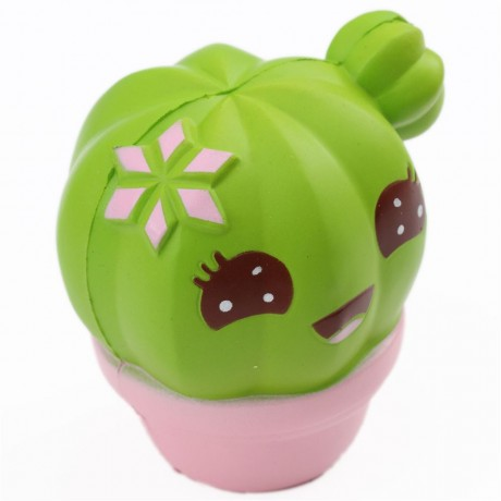 Squishy Squooshems Green : scented green cactus with a face food squishy - Cute Squishy Shop