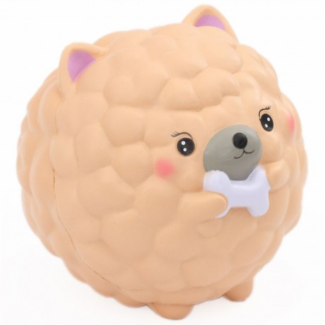 scented jumbo Chow Chow cream dog squishy DecoMayShop - Cute Squishy Shop