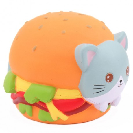 Squishy Hamburger Cat : scented jumbo cat hamburger squishy by Popularboxes_hk - Cute Squishy Shop