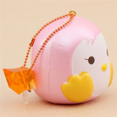 Squishy Eyes : scented mini pink penguin with eyes open squishy by Puni Maru - Cute Squishy Shop