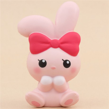 scented pink angel bunny animal squishy by iBloom - Cute Squishy Shop