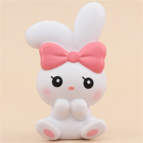 scented white angel bunny animal squishy by iBloom - Cute Squishy Shop