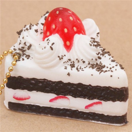Cafe De N Strawberry Squishy : small white and dark brown cake with strawberry squishy cellphone charm Cafe de N - Cute Squishy ...