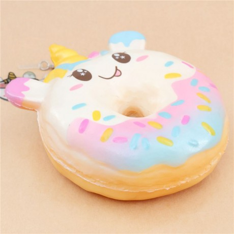 Squishy Donut Unicorn : Squishy en forma de donut animal unicornio de Puni Maru - Cute Squishy Shop
