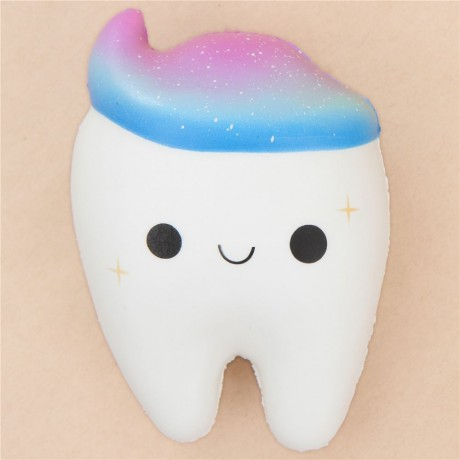 white tooth with galaxy toothpaste squishy by Cutie Creative - Cute Squishy Shop